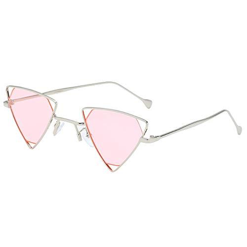 Dorical Retro Sonnenbrille Für Unisex Herren und Damen Mehrfarbig Fashion Vintage Sonnenbrille/Frauen Männer Mode Irregulär Dreieck Elegant Sonnenbrille Brille Metal Frame Promo