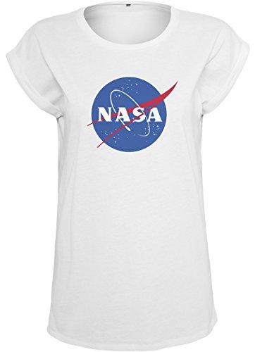 Mister Tee Ladies NASA Insignia Tee - Damen Streetwear T-Shirt, White, Größe XS