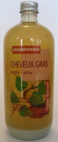Cosmo Naturel Shampoing cheveux gras Argile ortie 500ml
