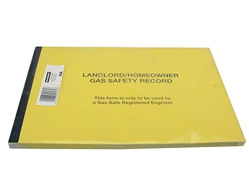 Monument mon532532P Gas Safe® Landlords Gas Sicherheit Record Pad von 50