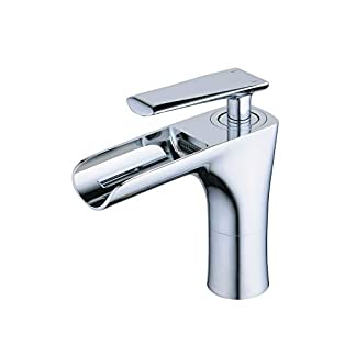 Beelee BL6774 – Grifo monomando para lavabo (latón macizo, cromado)