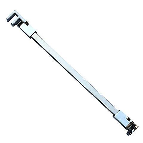 40cm Edelstahl rahmenlose Dusche Tür Feste seitenwandplatte wall-to-glass Unterstützung Bar