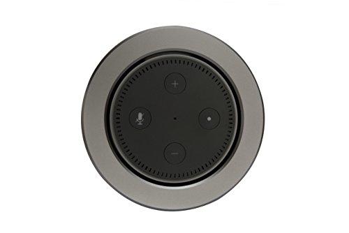EKKØ Einbaugehäuse für Amazon Echo 2 - Einbau in Möbel und Wände - Silber, Schwarz, Titan eloxiert - Seedstock (Titan)