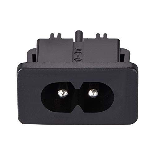 C8 Adaptateur de prise de montage sur panneau AC 250V 2.5A 2 broches IEC Module d'entrée Prise de courant Prise droite Pack de 7