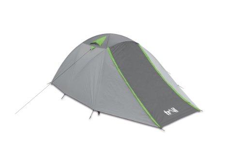 Trail, Tenda da campeggio per 4 persone con borsa da trasporto Festival, Grigio (grau - grau), 360 x 240 x 130 cm