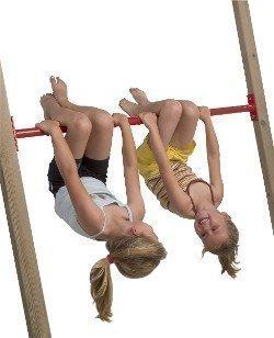 Loggyland - Sbarra da gioco e ginnastica, 125 cm