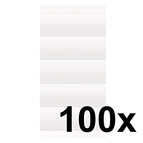Falken 100er Pack Beschriftungsschildchen. Das Original - Made in Germany. Für Voll-Sichtreiter für alle Falken Hängemappe Hängehefter Hängetaschen Hängeregistratur
