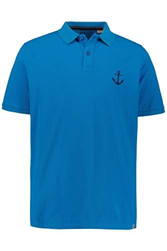 Anker Polo (JP 1880 Herren große Größen Poloshirt, vorgewaschener Piqué, Anker-Stick Ocean 3XL 723226 77-3XL)