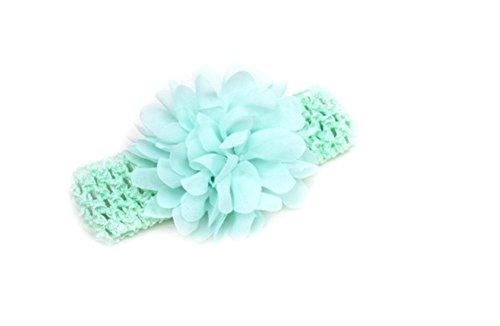 CAOLATOR 1X schönes Haar Band Baby Stirnbänder Chiffon Haar Blume Element Typ Kopfbedeckungen für Mädchen (Hellgrün)