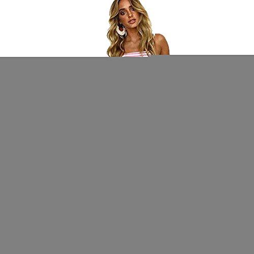 ALAIX Salopette da donna Sexy Salopette costine con lacci Stringate con lacci per donne Rosa M