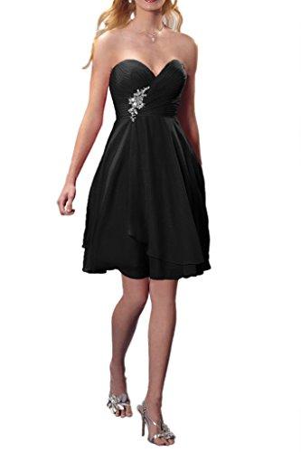 Promgirl House Damen Elegant Rot Royalblau Spitze Chiffon Abendkleider Cocktail Ballkleider Lang Schwarz