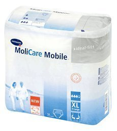 Molicare Mobile - Karton Gr. XL, 130 - 170 cm Hüftumfang, 4x14Stk.