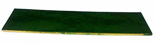 Preisvergleich Produktbild Lederabziehriemen GRÜN, 20cm x 5cm, behandelt mit Chromoxid