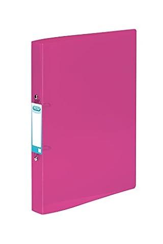 ELBA A4Snap 2O-Ring Binder, 20mm Kapazität, Rücken 40mm,–Pink, 10Stück