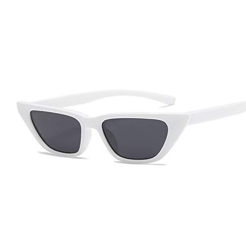 YUHANGH Retro Cat Eye Sonnenbrille Frauen Kleiner Rahmen Dreieck Lila Sonnenbrille Frauen Eyewear