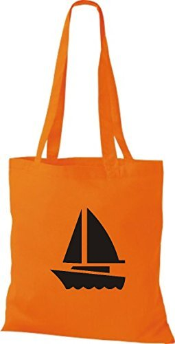 JUTA Borsa di stoffa barca a vela, Jolle ,SKIPPER,CAPITANO Arancione
