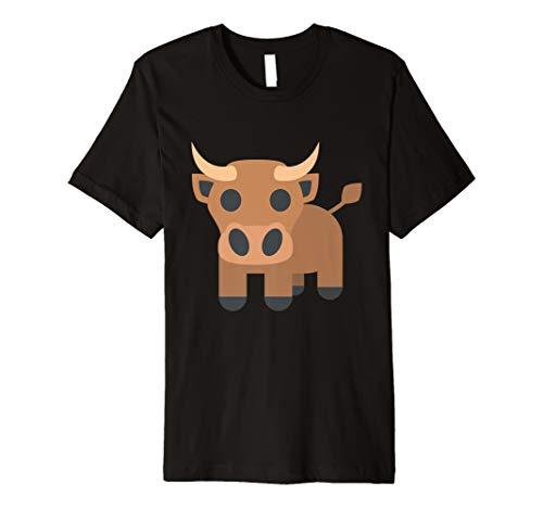 Bull Emoji-Emoticon Cute Funny T shirt Tee Bulls Corrida New