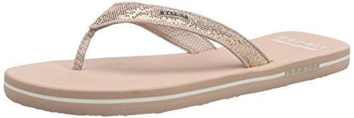 Esprit Glitter Thongs, Tongs femme Beige - Beige (685 nude)
