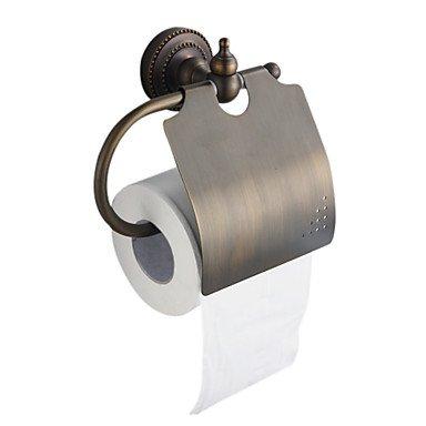 PIGE antike Bronze-Finish aus massivem Messing wei? Wandhalterung Toilettenpapierhalter