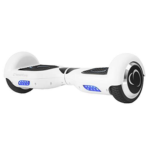 SmartGyro X2 UL v.3.0 White - Potente Patinete Eléctrico, Ruedas de 6.5' Antipinchazos, Batería de Litio 4400 mAh, vel. Máxima 12 Km/h, Autonomía de 20 Km, Certificado UL, Color Blanco