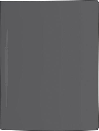 Brunnen 102015680 Schnellhefter (A4, mit je einem Einsteckfach vorne und hinten, mit Amtsheftung, aus PP) schwarz)
