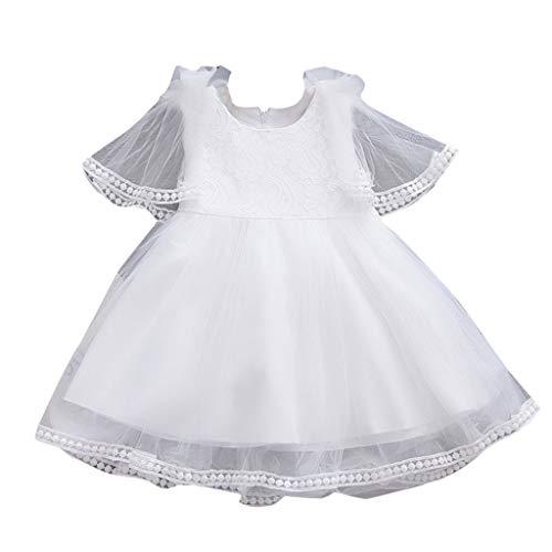 Vestidos para bebés,BBestseller Girls Lace Princess Skirt Verano Vestidos para bebés tutú Playa Falda Mini Vestir (3-24 Meses)