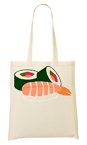 ShutUp Sushi rolls graphic Tragetasche Einkaufstasche