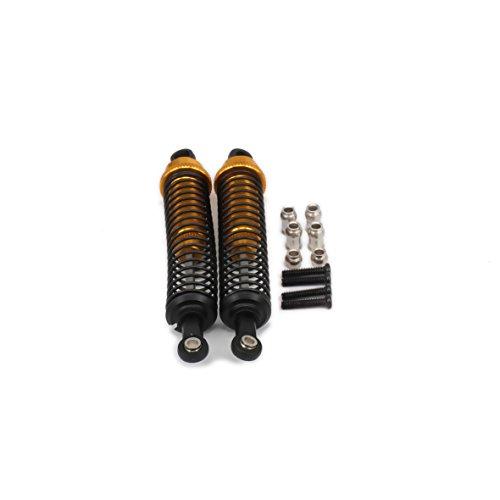 RCAWD Amortisseur d'amortisseur A286004 Aluminium réglable à l'huile de 86 mm Aluminium pour voiture Rc 1/16 Pièces rechargeables améliorées HPI HSP Traxxas Losi Axial Tamiya 2Pcs(Or)