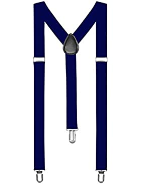 Autiga® Hosenträger Herren Damen Hosen Träger Y Form Style Clips Schmal Neon Bunt Farbig
