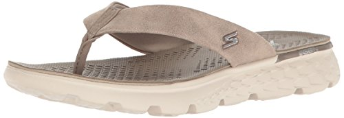 Skechers On-the-Go 400-Essence 14658/TPE Damen Pantolette bis 30mm Absatz Braun (Taupe)