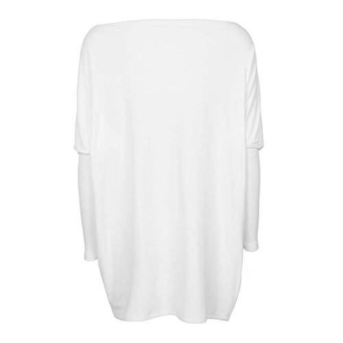Maglione Donna Maglie Manica Lunga Camicette Autunno T-shirt Allentate Pullover Lungo Casuale Grigio Rosa Nero Bianco Verde Bianco M-XL Juleya Bianca