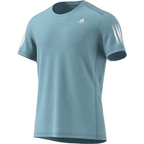 adidas Herren Own The Run T-Shirt, Ash Grey/Reflective Silver, 2XL