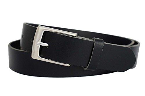 Anzuggürtel schwarz aus einem Stück Leder - Business Gürtel schwarz - Herren Gürtel - Ledergürtel schwarz - Ledergürtel Herren -Anzug Gürtel schwarz - 3cm breit (95 cm Bundweite (Umfang), Schwarz) - Damen-leder-anzug