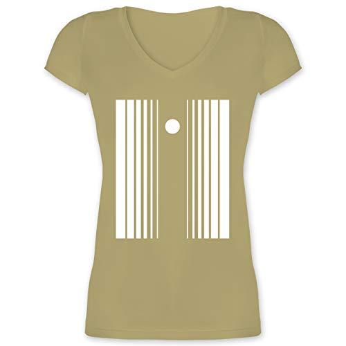 Karneval & Fasching - Doppler-Effekt - XS - Olivgrün - XO1525 - Damen T-Shirt mit ()