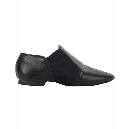 Preisvergleich Produktbild Rumpf 1250 elastischer Jazz Schlupfschuh Leder geteilte Sohle schwarz EU 37 UK 4