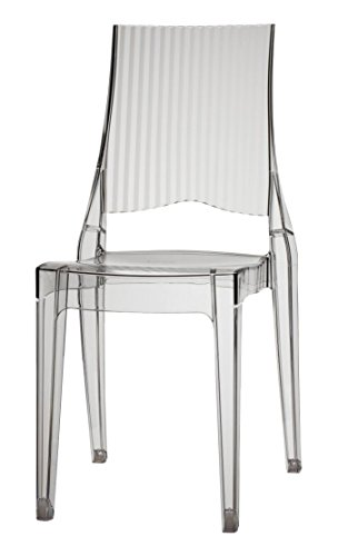 Fashion Commerce FC694 Chaise, polycarbonate, transparent, 37 x 40 x 90 cm