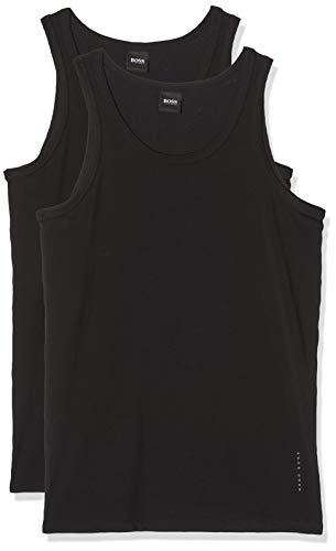 BOSS Herren Tank Top 2P CO/EL T-Shirt, Schwarz (Black 1), Large (2erPack)