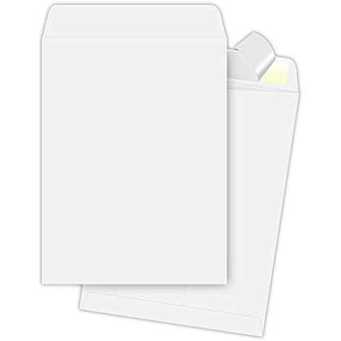 9 x 12 sobres White, Redi-sello sobres, caja de 100 sobres de catálogo, o natural