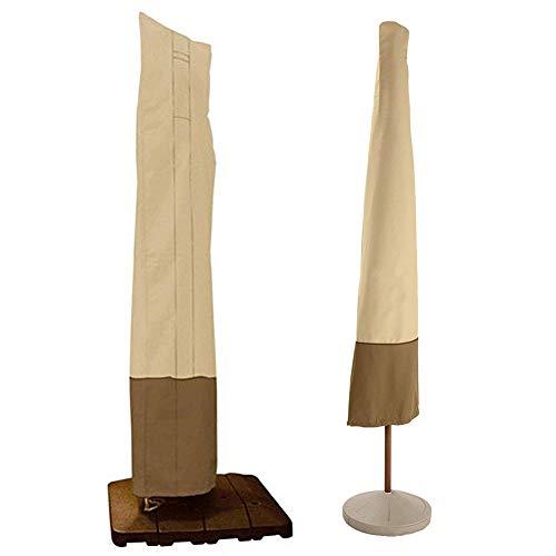 DMZY 600D Oxford Material Schutzhülle Für Gartenschirm Sonnenschirm Wasserdicht Hülle Mit Reisverschluss UV-Beständig Und Wetterfest