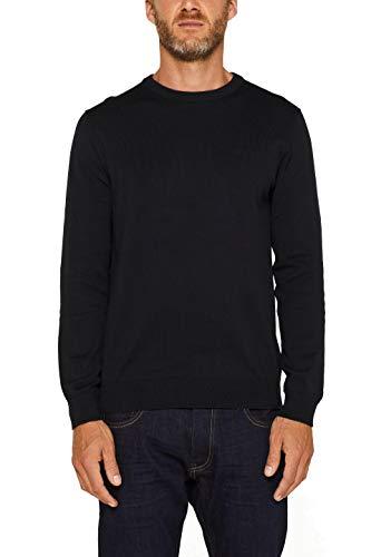 ESPRIT Herren 999Ee2I803 Pullover, Schwarz (Black 001), Medium (Herstellergröße: M)