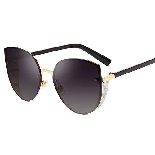 Wenkang Mode Frauen Cat Eye Sonnenbrille Glitter Frame Sonnenbrille Vintage Female Sunglass UV400 Eyewear Shades,4