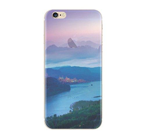 iPhone 5/5s/SE hülle vanki® Tasten Strand Schutzhülle Clear Case Cover Bumper TPU Silikon Durchsichtig Handyhülle für iPhone 5/5s/SE (color1) Valley