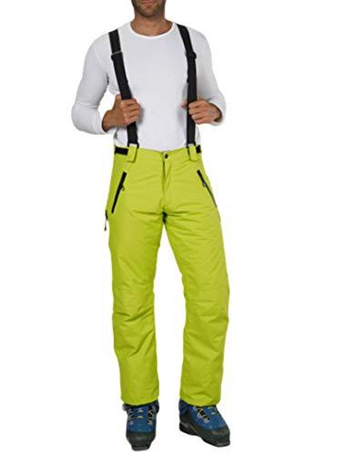 Fifty Five Skihose Herren Laval Gelb Grün 58 (3XL) Snowboardhose Thermohose Wasserdicht