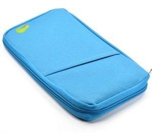 Cosmos® 24,1cm Bleu clair multi-usage/Passeport/sacoche/support/Organisateur pour carte Ticket de l'argent