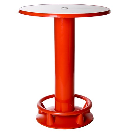 Severin Stehtisch Quick-Table rot, Stehbiertisch, Bistrotisch