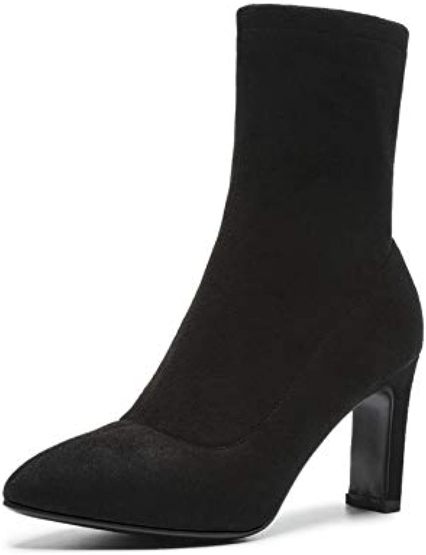 HOESCZS 2019 Stivali da Donna all Match Stivali Invernali Invernali Invernali Scarpe da Donna Zipper Donna Stivali a metà Polpaccio... | una vasta gamma di prodotti  13415e