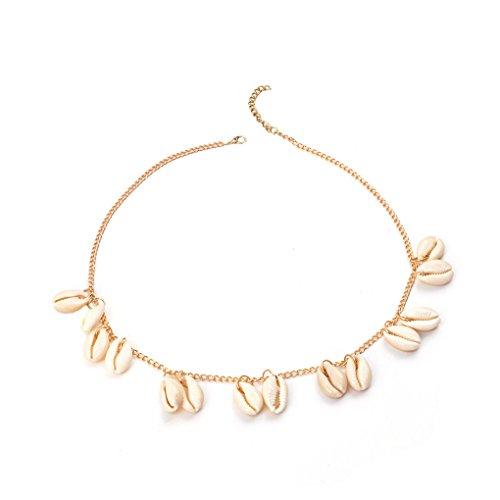 Bobury breve clavicola di stile della boemia shell naturale pendente di disegno collana dress