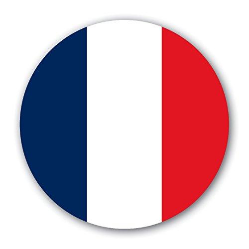 10 selbsthaftende, wiederverwendbare, runde Frankreich-Sticker