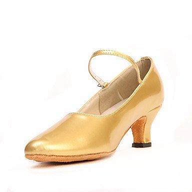 Donna Banchetto Latino Stanza Ballo Scarpe Gold