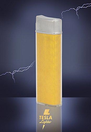 Tesla-Lighter T12 Lichtbogen Feuerzeug USB Feuerzeug wiederaufladbar Classic Gelb -